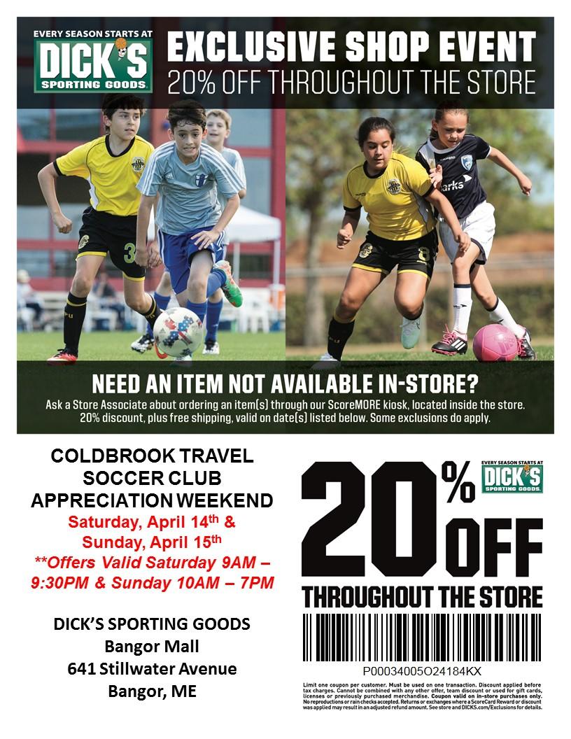 60cf80d3d97 Customer appreciation weekend at Dick s Sporting Goods – Coldbrook