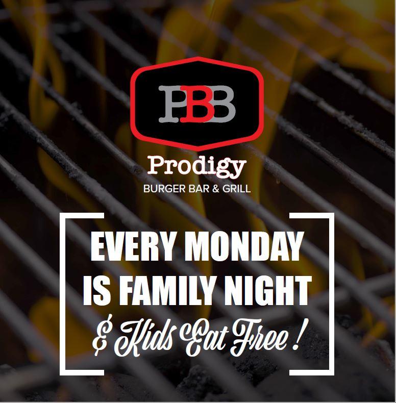 Kids Eat Free on Mondays at Prodigy Burger &